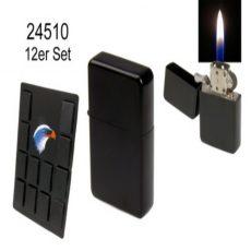 245100 Зажигалка бензиновая ANGEL, черная (блок 12шт)